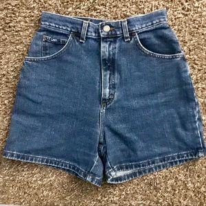 High Waisted Lee Denim Shorts (Mom Jean Fit)